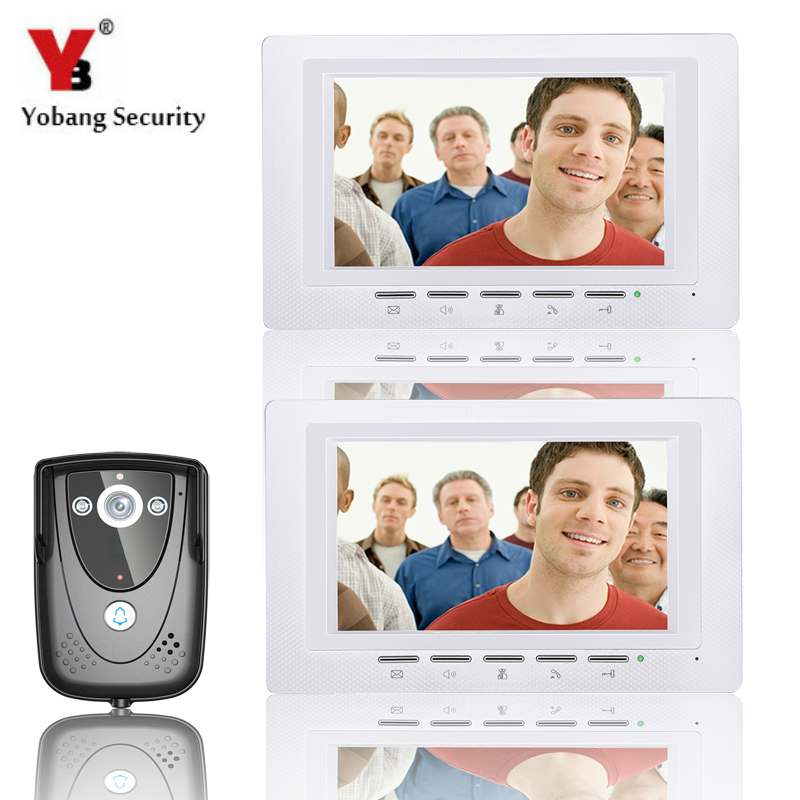 YobangSecurity Video Intercom Monitor 7Inch Video Door Phone Doorbell Home Security intercom Wired for House Office Apartment yobangsecurity black 7 inch color tft lcd screen monitor wired video doorbell camera system for house office apartment