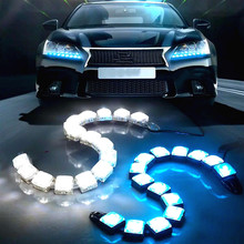 JURUS Universal Car External Light Led Lamp Driving Fog Lights For Car Daytime Running Lights DRL Car-styling Motorcycle Light new dimming style relay waterproof 12v led car light drl daytime running lights with fog lamp hole for mitsubishi asx 2013 2014