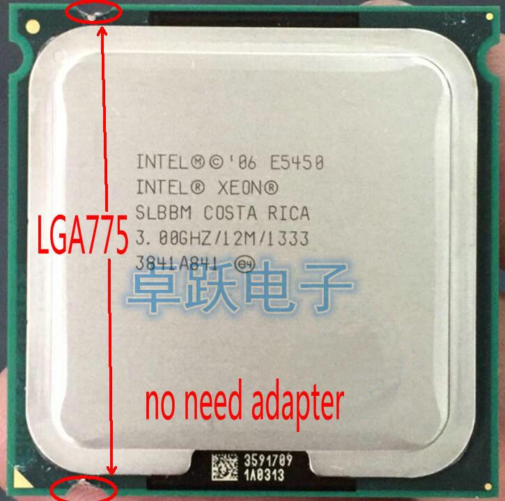 Intel Xeon E5450 Processor(3.0GHz/12M/1333)close To LGA775 Core 2 Quad Q9650 Cpuworks On (LGA 775 Mainboard No Need Adapter)