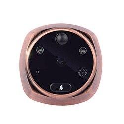 4.3 inch Wireless HD Digital Door Viewer Camera Door Eye Video Record Peephole Viewers Eye US Plug Infrared IR Night Vision