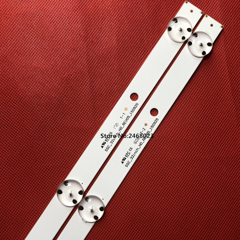 New-Kit-2pcs-5LEDs-590mm-LED-strip-for-LG-TV-32LH510B-32LH51-HD-S-SSC-32INCH