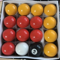 For Kids 38mm red & yellow Billiard Balls Durable Resin Snooker pool snooker balls 16pcs/set