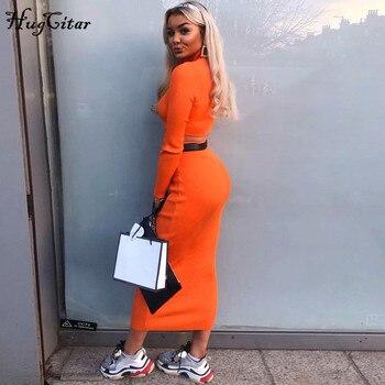 Dámska elegantná sukňa + crop top – set