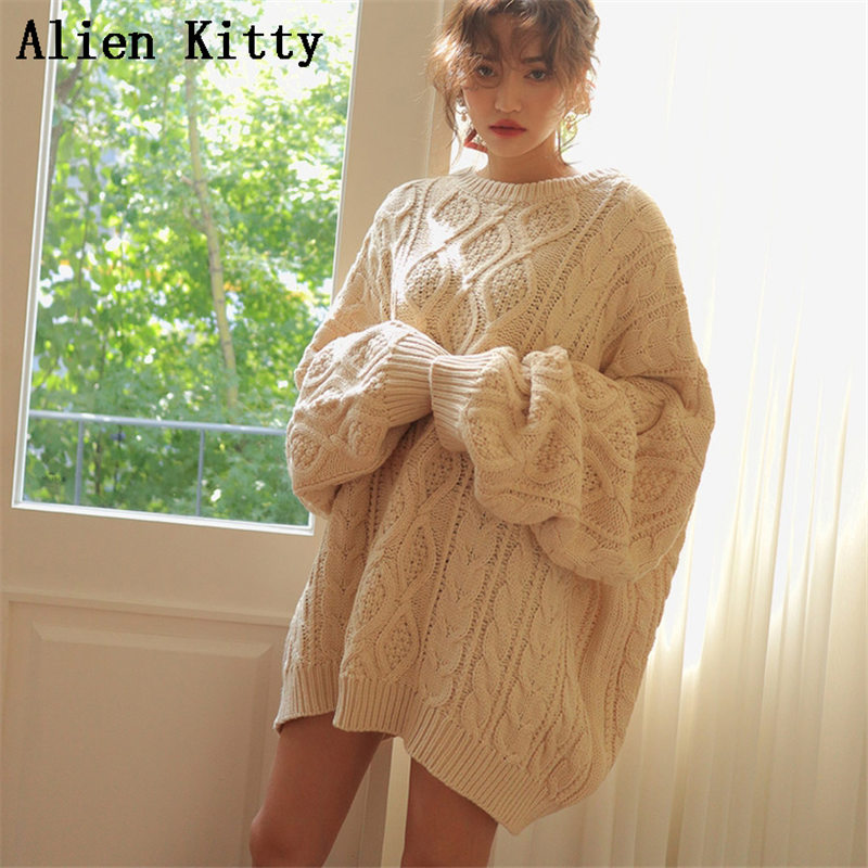 Alien Kitty Stylish New Autumn Winter Outwear Comfortable Simple Fresh Pullover 3 Colors High Quality Fresh Free Warm Sweater