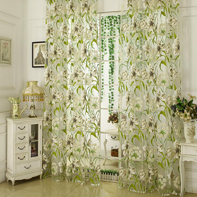 Layout Hotel Home Porch Light Curtains Ink Curtains Window Screens Jacquard Curtains Home Decoration