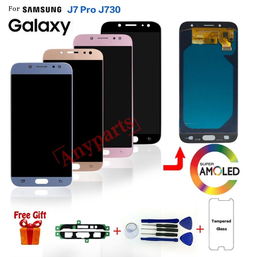 For SAMSUNG <font><b>J7</b></font> <font><b>Pro</b></font> SM-J730F/DS Display <font><b>lcd</b></font> <font><b>Screen</b></font> <font><b>replacement</b></font> for Samsung Galaxy <font><b>J7</b></font> <font><b>Pro</b></font> J730F J730G <font><b>lcd</b></font> display <font><b>screen</b></font> modules image