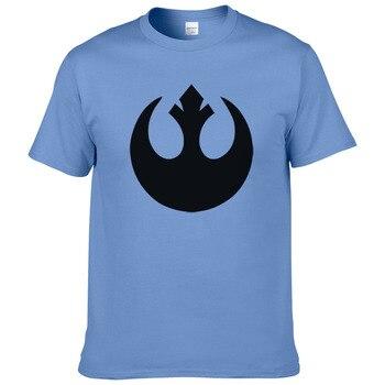 حرب النجوم T قميص الرجال المتمردين التحالف شعار تي شيرت الصيف القطن قصيرة الأكمام ستار الحروب المحملات أعلى الذكور الملابس #268