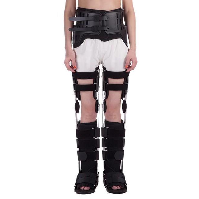Adults Both Legs HKAFO With Walking Boots Hip Knee Ankle Foot Orthosis