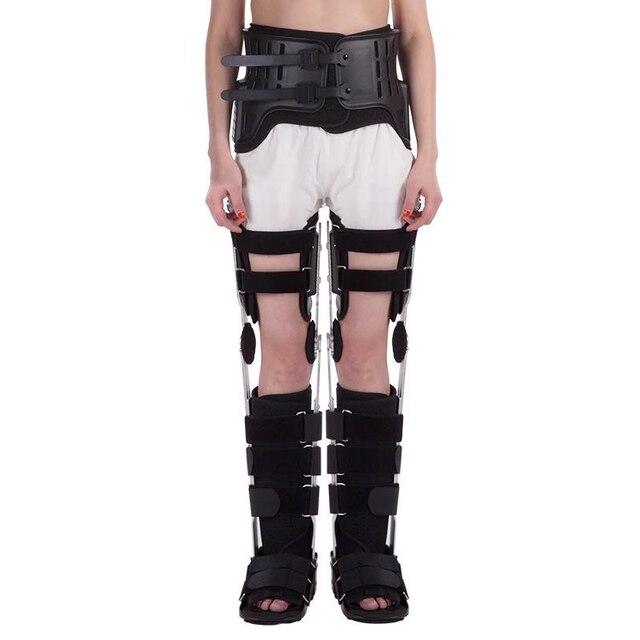 מבוגרים שני רגליים HKAFO עם הליכה מגפי ירך הברך קרסול רגל ישור