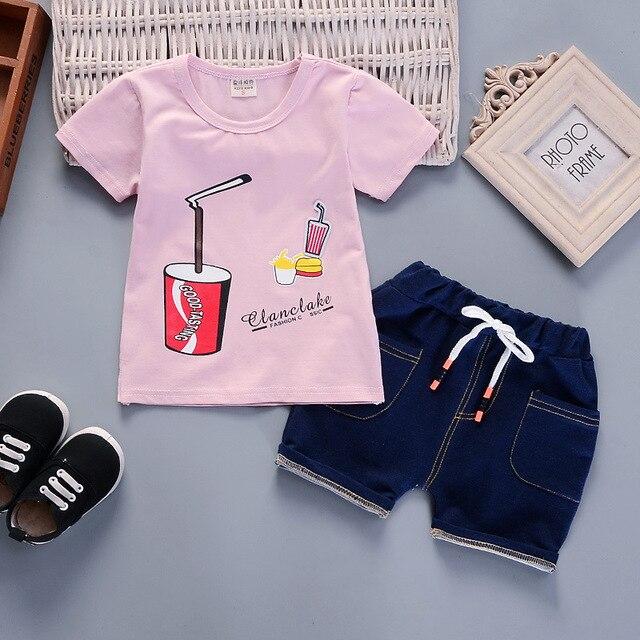 Newborn sky t-shirt and blue short for baby boy 3