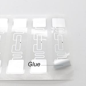 Image 2 - 10pc UHF RFID tag Alien 9662 H3 wet inlay sticker 73mm*20mm UHF antenna used for Vending machine Fast delivery free shipping