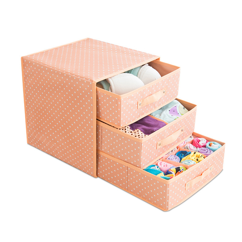 Foldable Divider Storage Bra Drawers Non woven Fabric Folding Cases Necktie Socks Underwear Clothing Organizer Container Boxes