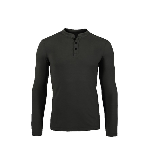 Caçador Homens 100% Lã Merino Henley Camisa Camada De Base Longa Midweight manga Top Para Fora da porta Quente TAD Térmicas Roupas de Estilo camisa