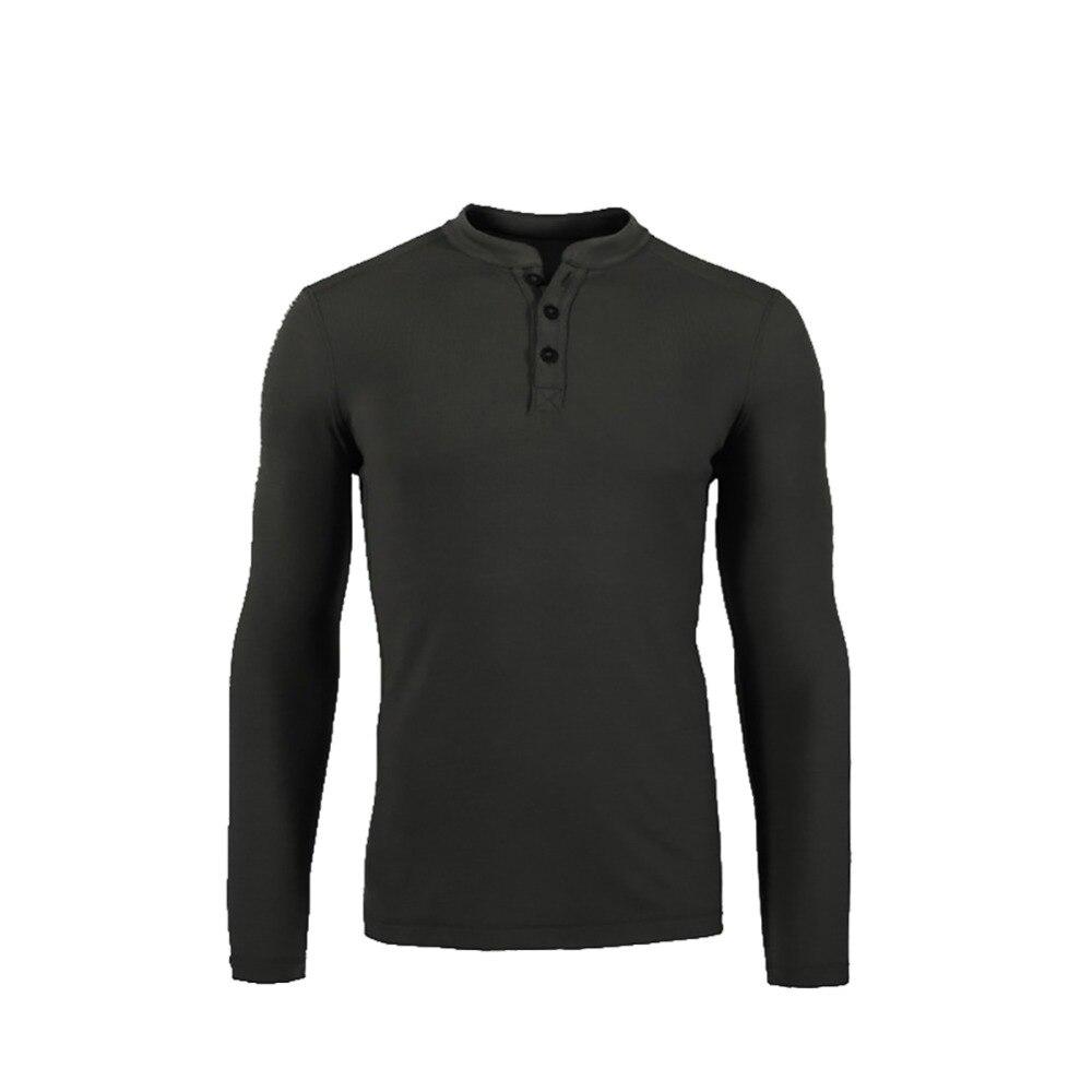 Erkek Kıyafeti'ten Tişörtler'de Huntsman Henley Erkekler 100% Merinos Yünü Jersey Baz Katman Uzun Kollu Orta Ağırlık En açık Sıcak Termal TAD Tarzı Elbise gömlek'da  Grup 1