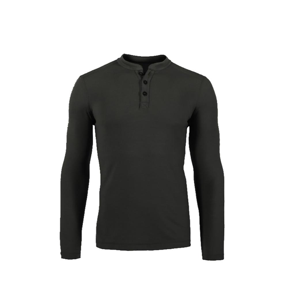 Huntsman Henley hombres 100% Jersey de lana Merino capa de Base de manga larga de peso medio de la puerta caliente térmica TAD estilo camisa de ropa