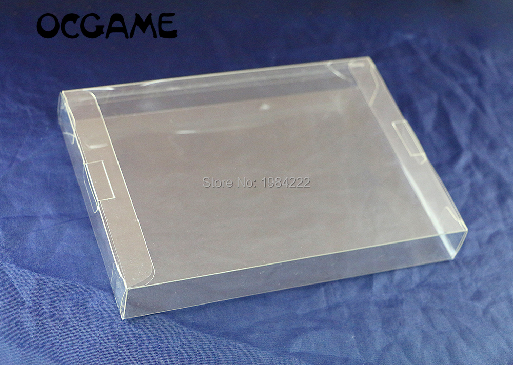 OCGAME Clear Transparent 8-bit For NES Game Box CIB Games Plastic PET Protector Case For Nintendo Game Boxes High Quality