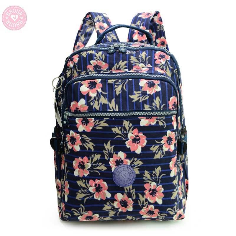 Moda większe przybory szkolne torby dla nastolatków plecak kobiety nylon małpa plecak szkolny mochila feminina w Plecaki od Bagaże i torby na  Grupa 1