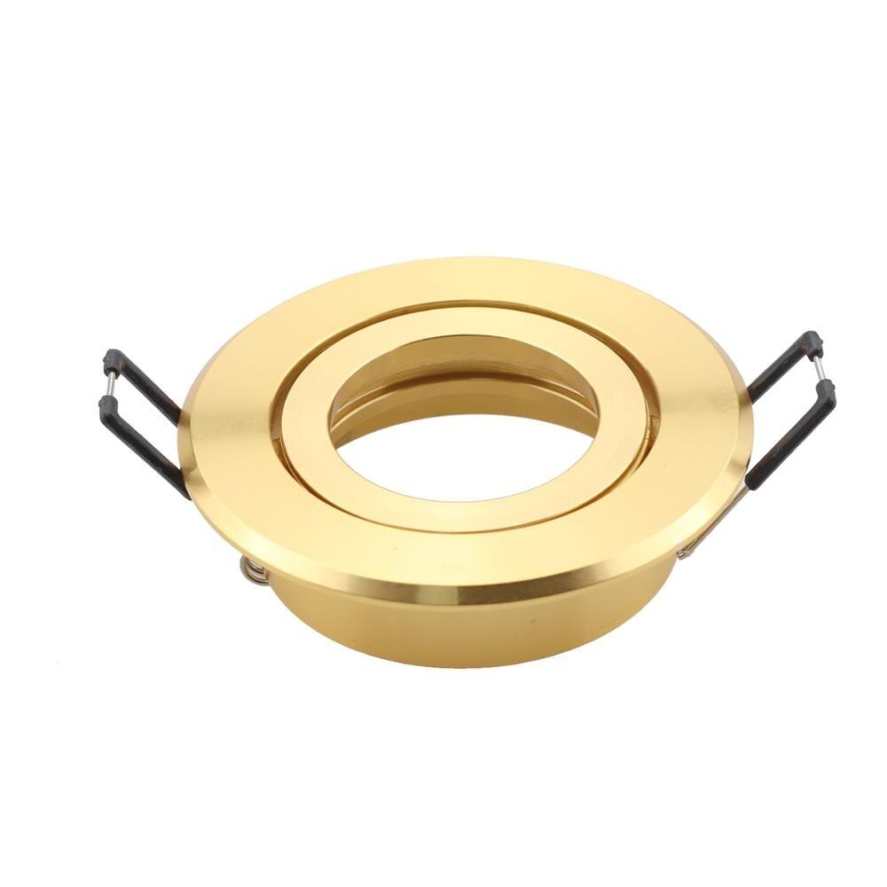 New Design Round Golden Adjustable LED Ceiling Frame Lights Recessed Lighting Kits GU10 MR16 Socket Built-in Ceiling Fit Fixture