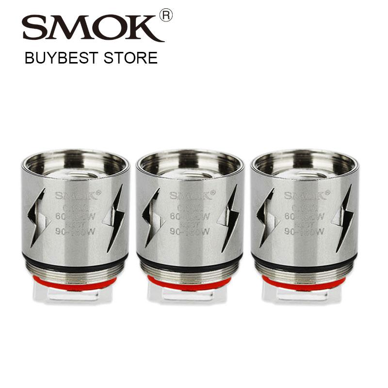 Original 3 pcs SMOK V12-Q4 Coil  0.15ohm for TFV12 Tank V12 Q4 Coil Electronic Cigarette Atomizer Coil for tfv12 Wattage 90-190W база tfv12