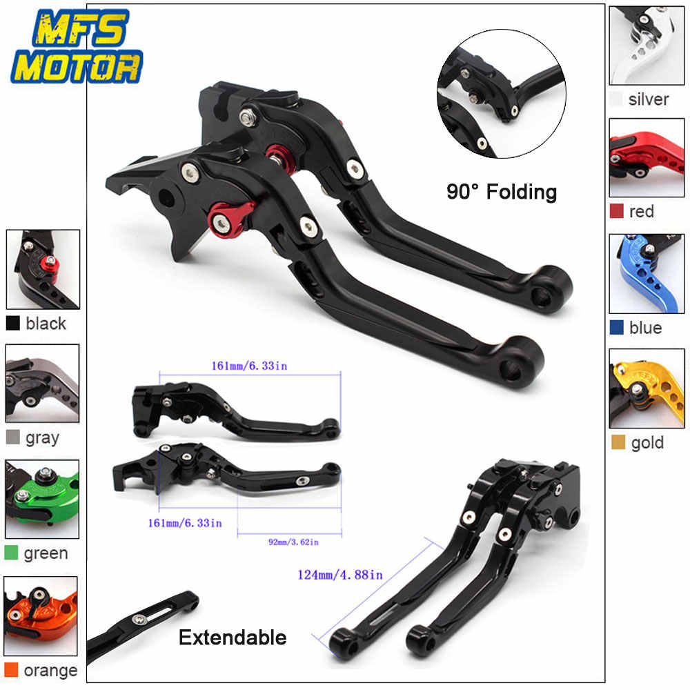CNC Long Brake Clutch Levers Adjustable For Hyosung GT250R GT650R 2006-2009