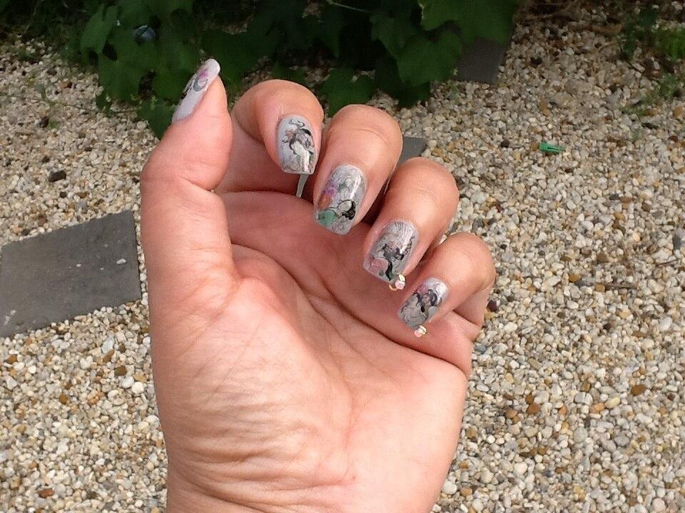HOT 12 colors/set 120pcs Colorful Pearl Gold Nail Art Dangle Ring ...