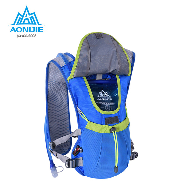 2018 AONIJIE Outdoor Trail Running Marathon Hydration Backpack Lightweight Hiking Bag with+1.5L Hydration Water Bag E883