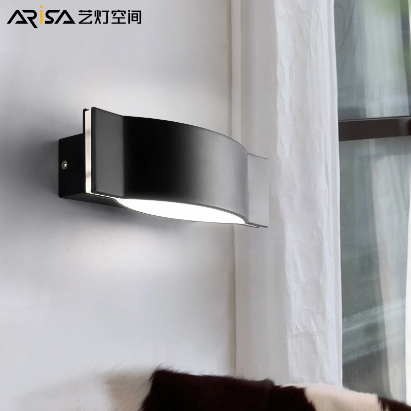 LED Nordic Modern wall sconces Iron living room Wall lights Bar Lighting bedroom Fixture Novelty Cafe wall lamps led modern aisle wall sconces living room wall lights nordic restaurant lighting bedroom fixture novelty stairs wall lamps