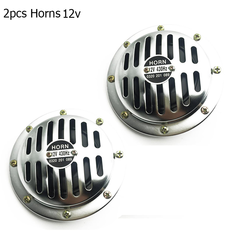 1 Pair Electric Car Motorcycle Horn 12V 430 Hz Loud Horn 125mm Loud Aluminum Coil Air Horn For Cars Vehicles Trucks Motorcycles