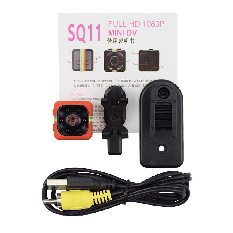 SQ11 Mini Camera 1080p Home Security Infrared Night Vision Camera Monitor Concealed Video Camera 5