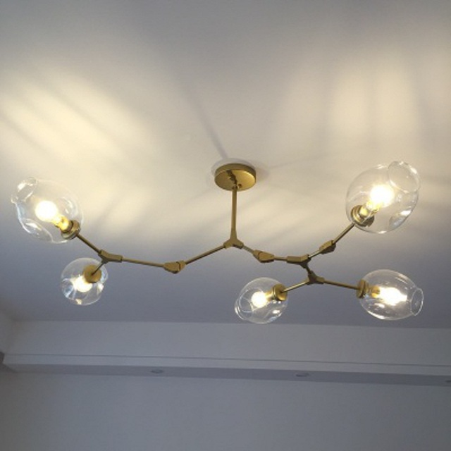 Branching Bubble Ceiling Lights Retro Loft Vintage Molecular Clear Glass  Lindsey Adelman Suspension Ceiling Lamp Fixtures