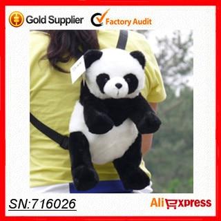 ! 2013 Lovely cute Plush Bag Animal Panda white black Color backpack women shoulder kids - Houseeyou Factory Store store