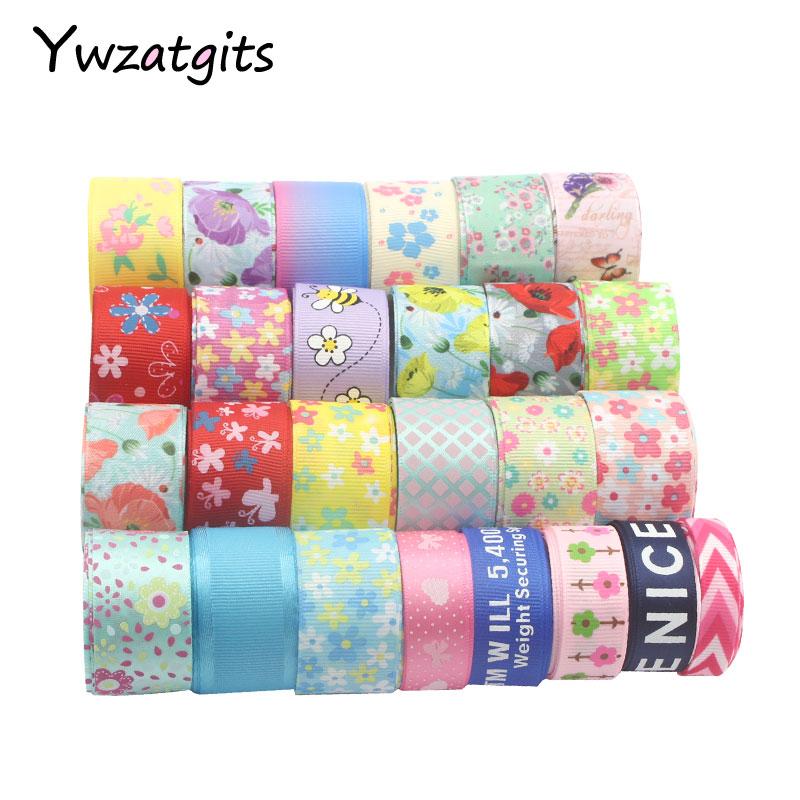 Ywzatgits 6 ярдов Multi вариантов Grosgrain ленты DIY отделкой Швейные ленты для волос луки одежды отделочные материалы 040054288