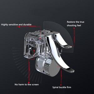 Image 3 - 6 指 PUBG 携帯ゲームコントローラーゲームパッドトリガー目的ボタン L1 R1 シューターアルミゲーミングジョイスティック Iphone アンドロイド電話用