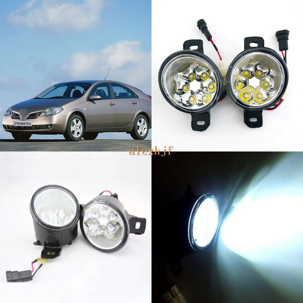 July King 18W 6LEDs H11 LED Fog Lamp Assembly Case for Nissan Primera 2001~ON,  6500K 1260LM LED Daytime Running Lights july king 18w 6leds h11 led fog lamp assembly case for nissan versa 2012 on 6500k 1260lm led daytime running lights