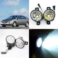 July King 18W 6LEDs H11 LED Fog Lamp Assembly Case for Nissan Primera 2001~ON, 6500K 1260LM LED Daytime Running Lights