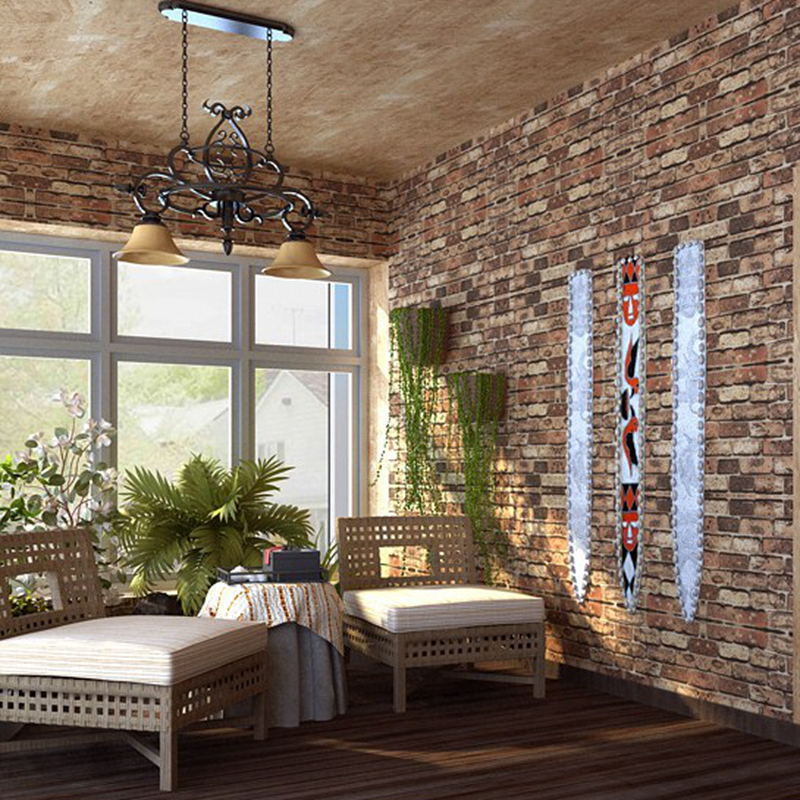 Aliexpress.com : Buy PVC Chinoiserie Retro Sandstone Wall Brick Kitchen  Wallpaper Natural Vinyl 3D Effect Red Brick Wallpaper Bathroom,Dinning Room  From ...