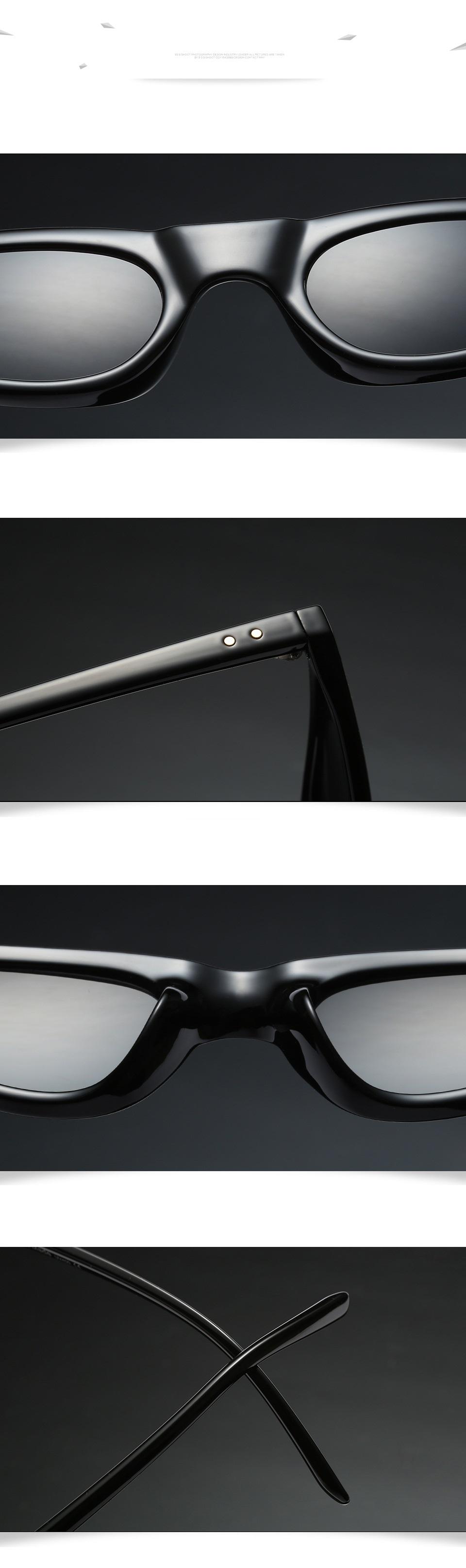 HTB1ntrfdILJ8KJjy0Fnq6AFDpXaS - Unisex Flat Top Eyeglasses Small Triangle Frame Cat Eye Sunglasses Women UV400 2018 Fashion Color Ocean Film Sun Glasses Cool