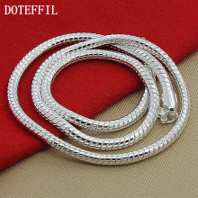 Attractive Hot Mens Womens Sell Silver Jewelry Snake Chain Necklace Size 4mm 50cm Free Shipping(China)