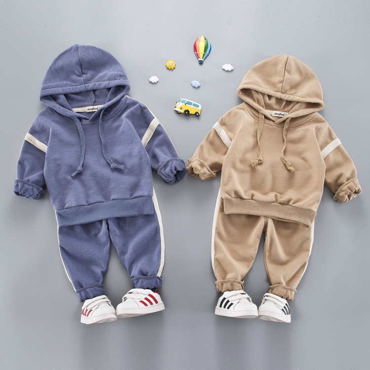 2018 sports suit Cartoon jacket sweater coat pants thicken kids clothes set Hot sell boys girls children winter wool sherpa
