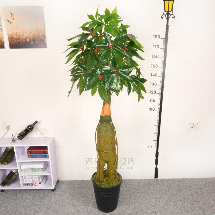 Ginseng Tree Simulation Tree Fake Tree Fake Living Room Decoration Plastic  Tree Green Plant Floor Fake Pots Large False Bonsai  In Artificial U0026 Dried  ...