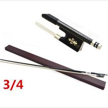 High quality violin bow size 3/4 violino Ebony wood Bow Top Horse hair violin accessory bow accessories para violino with Case