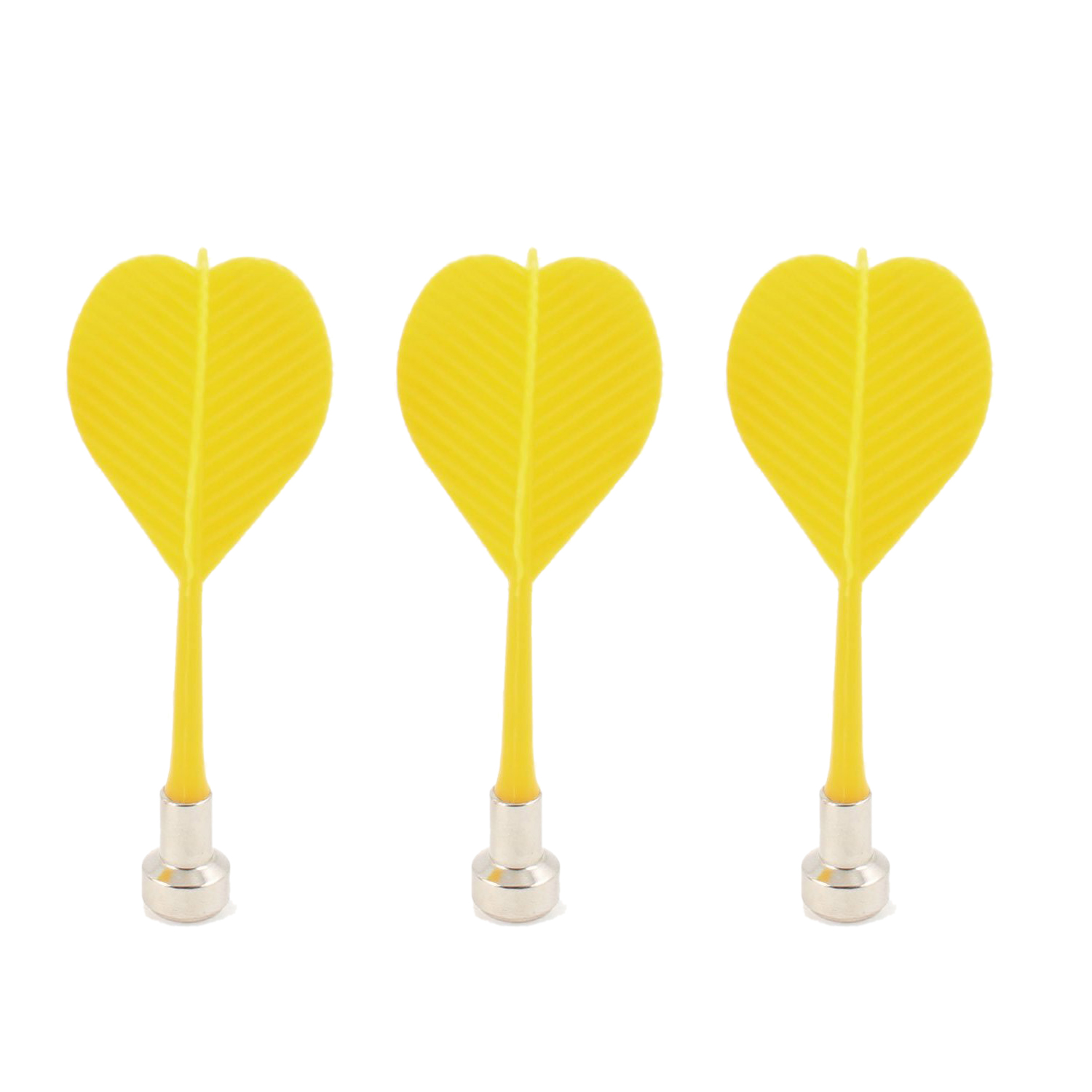 3Pcs Bullseye Target Game Plastic Magnetic Flat Tipped Darts-Yellow