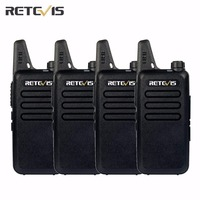4pcs Dustproof Retevis RT22 Walkie Talkie Transceiver 2W 16CH UHF400 480MHz CTCSS DCS VOX Scan Squelch