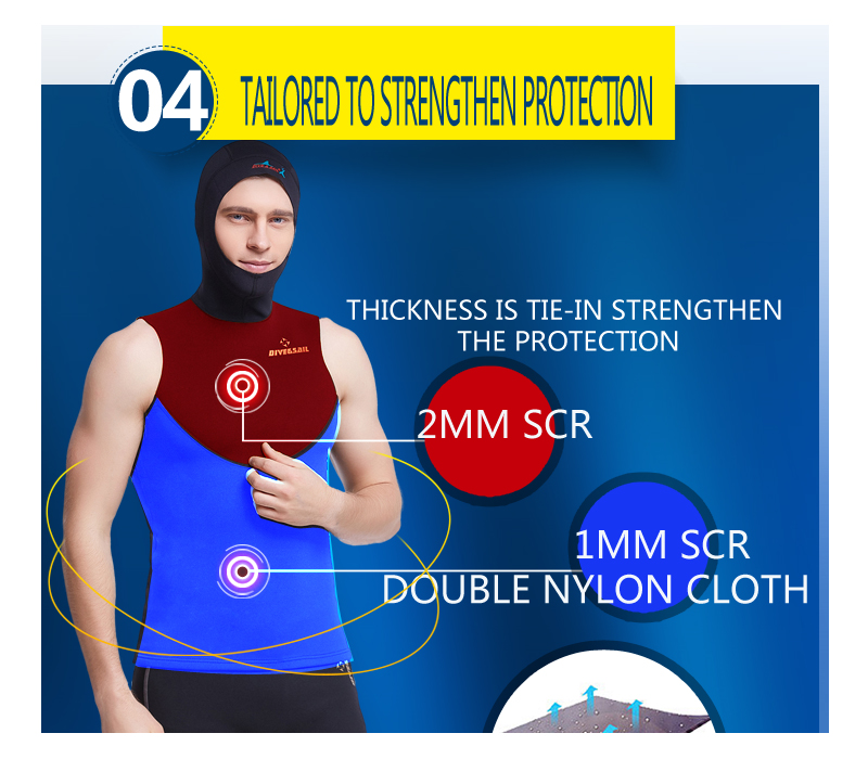 7724232083 Dive Sail 1.5MM mens hooded wetsuit vest diving hood vest spearfish neoprene  Wetsuits Vests-in Wetsuit from Sports   Entertainment on Aliexpress.com ...