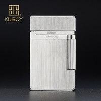 High Quality Brand KUBOY Gas Cigarette Lighter High-end Metal Windproof Lighter Men Smoking Business Gifts Lighters Case-K1-51
