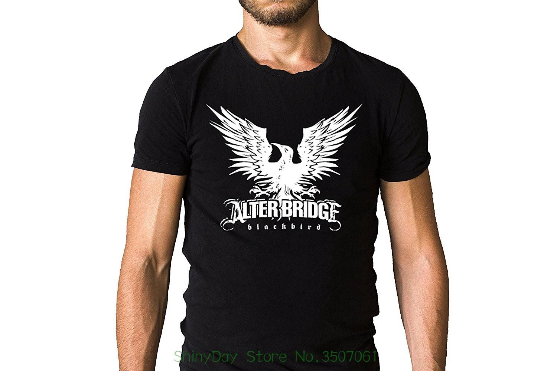 2018 Short Sleeve Cotton T Shirts Man Clothing Alter Bridge Band Blackbird Logo Black T-shirt