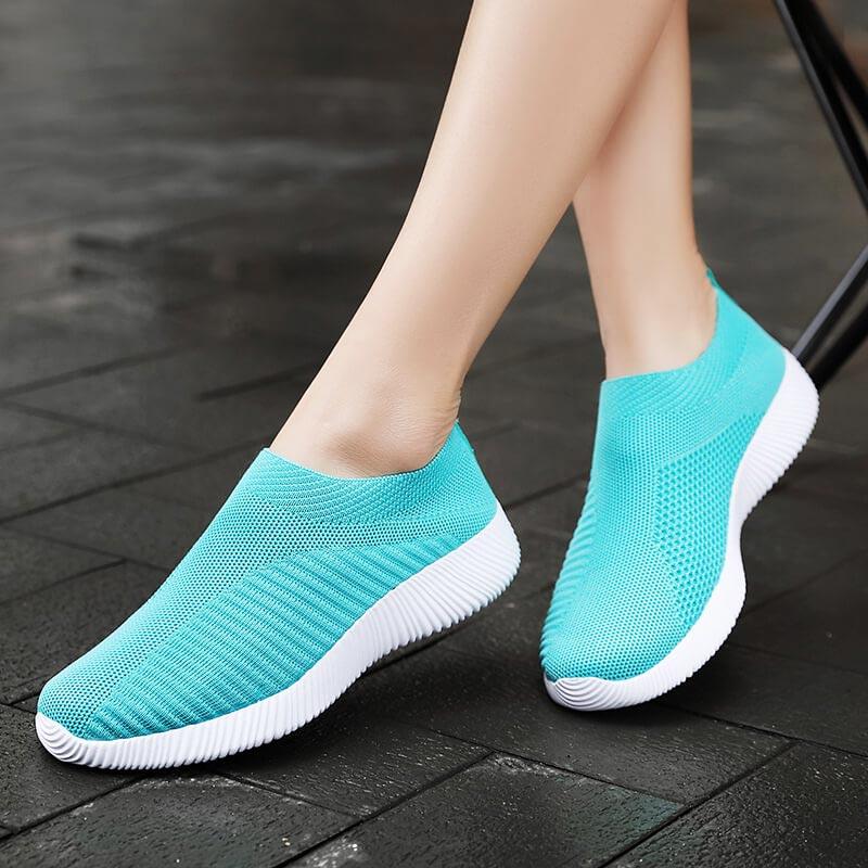 Summer Breathable Sneakers Socks Women Sport Shoes Sports Breathable Running Shoes Athletic Escarpin Femme Walk Krasovki B-266
