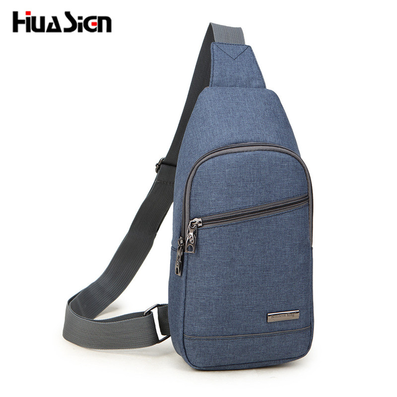 Hot Selling Casual Male Chest Bag Multifunctional Oxford Crossbody Bags Fashion Shoulder Bags