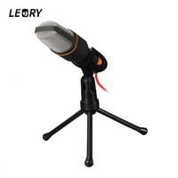 Professional Stereo Microphone 3 5mm With Stand Clip Condenser Microphone Mic For PC Chatting Singing Karaoke