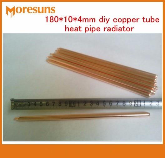 무료 배송 10pcs 구리 heatpipe 180 * 10 * 4mm DIY 구리 튜브 - 컴퓨터 구성 요소